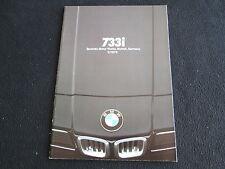 1978 BMW 7 Series Brochure E23 Deluxe 733i US Sales Catalog Flagshp 4-door Sedan