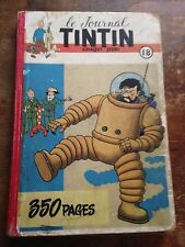 recueil reliure journal tintin 18 belge (1952) couv Hergé BD ancienne RARE