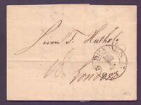 Vorphilabrief Bremen 1822 mit großem Schlüsselstempel nach London (763)