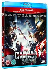 Captain America CIVIL WAR 3D + 2D Blu-Ray with slipcover BRAND NEW Free Ship