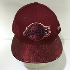 NBA Los Angeles Lakers New Era Snakeskin Brim Fitted Size 7 1/2 Cap Hat NWOT
