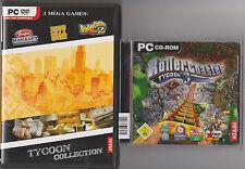 RollerCoaster Tycoon 3 + 2 + Tycoon City New York + transporte comedero colección PC