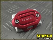 Area 22 2014 2015 Honda MSX125 Grom CNC Aluminum Brake Reservoir Cover Cap Red