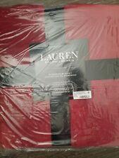 NEW Ralph Lauren TWINE THROW Classic Micromink Blanket Red 66 X 90