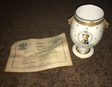 Rare Minton KING GEORGE VI QUEEN ELIZABETH 1939 Visit To US Vase Cert 72/3000