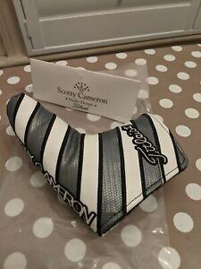 Scotty Cameron Putter Headcover - Custom Shop - Black/Grey & White Striped