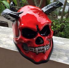 Motorcycle Helmet Hell Demon Devil Hells Goat 666 Evil Horn Full face Helmet