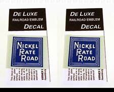 DeLuxe By Virnex Decals Blue White Nickel Plate Road Herald D-120 -Two Decals-