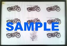 BSA Motorcycle Poster featuring M20, M21, M23, C10, C11, C12, G14, B29 Rigid