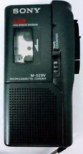 Sony V-O-R Handheld Microcassette Corder M-529V Voice Operated Recording