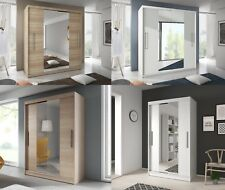 BRAND NEW MODERN SLIDING DOORS WARDROBES WITH DOUBLE MIRROR 120/150/183/204