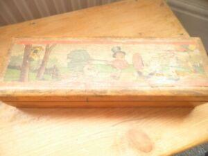 Vintage wooden pencil box