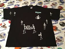 Vintage 90's Iron Horse Saloon Motorcycle Skeleton All Over Pocket T-Shirt 2XL
