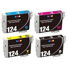Super 124 Black/Color Inks for Epson Stylus NX330 NX430 NX420 WF435 325 Printer