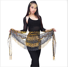 NEW Tie-dyed Hip Scarf Leopard Pattern with tassels Belly Dance Costumes 10017