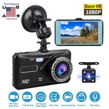 Touchscreen Dash Cam Dual Lens HD Car Front Inside DVR Video Camera Night Vision