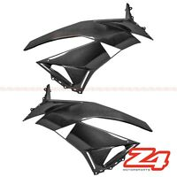 2009-2012 ZX-6R Front Side Radiator Panel Turn Signal Fairing Cowl Carbon Fiber
