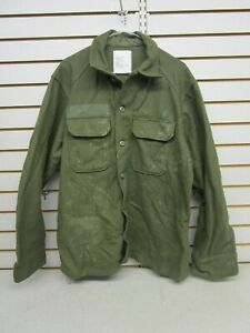 Vintage U.S. Military Cold Weather Field Shirt Wool/Nylon OG-108 Sz Large