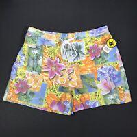 BODY GLOVE Mens Swim Trunks Board Shorts XL Tropical Floral Short Inseam NEW