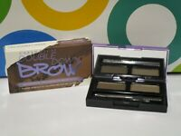 URBAN DECAY ~ DOUBLE DOWN BROW TWO SHADES + TOOLS ~ BROWN SUGAR / SOFT MED BROWN