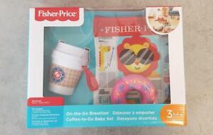 Fisher Price Baby Set Coffee to Go Sensorik Spielzeug Kinder Spielsachen 3 Teile