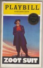 """Zoot Suit""  OPENING NIGHT  Playbill  1979   Edward James Olmos, Daniel Valdez"