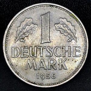 GERMANY 1956 G 1 DEUTSCHE MARK - SCARCE COIN - FEDERAL REPUBLIC GERMANY KM#110