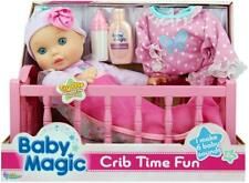 Baby Doll Crib Play Set Kids Toddler Lavender Scented Toy Girl Gift Sounds New