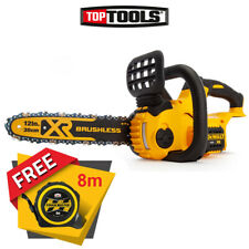DeWalt DCM565 18V Cordless Brushless Chainsaw With Pocket Tape Measures 8M/26ft