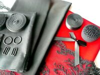 DIY Bra and Knicker Making Kit. Inc Fabric and Notions. Med /Large. Red Colour