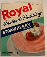 1960's Vintage Royal Strawberry Instant Pudding Box NOS Unopened Sealed