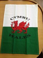 WELSH DRAGON design cotton TEA TOWEL,  Wales, Cymru