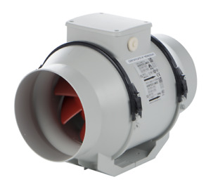 """Vortice 17021 LINEO 100T V0 In-Line Mixed Flow Extractor Fan with Timer 100mm/4"""""""