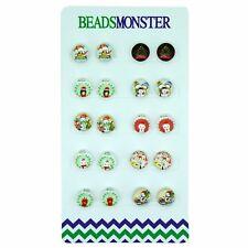 Christmas Magnetic Clip-on Earrings Little Girls / Kids / Teenage Girls / Womens