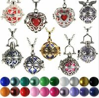 Harmony Ball Cage Silver Locket Pendant Angel Caller Sounds Chime Necklace Gifts