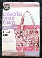 """Simplicity Pattern Travel Bag 2 Styles 19"""" x 22"""" Create-Your-Own #9032399 New"""
