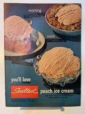 1953 Sealtest - Peach Ice Cream - Pepsi Cola - Magazine Ad