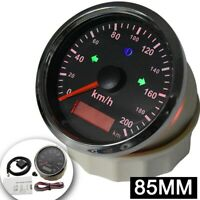 85mm GPS speedometer 0-200km/h Odometer For Car Truck motorcycle OverSpeed Alarm