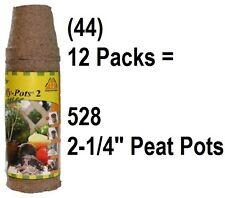 Jiffy Jp212 Peat Pot Starter Biodegradable Pots Case Of 528 Peat Pots