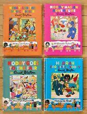Lot 4 NODDY Books Enid Blyton & Beek Hurrah Fair Magic Rubber Adv vintage L1