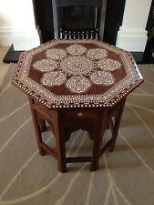 Mesa Octogonal Con Incrustaciones De India Royal 135 Diseño/mesa De India