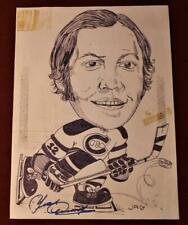 Vintage Yvan Cournoyer Montreal Canadiens Original Newspaper Caricature Art Work