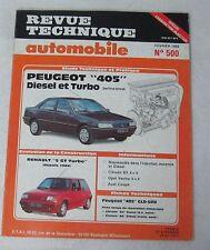 Revue technique automobile RTA n° 500 1989 Peugeot 405 Diesel & turbo