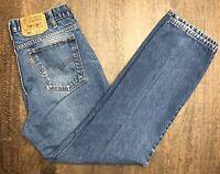 VTG Levi's 509 Orange Tab Men 34x29 Distressed Denim Jeans Levis Zipper USA Made