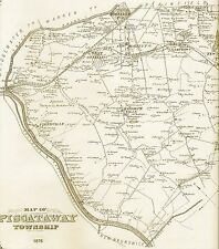 Piscataway North Brunswick Dunellen NJ 1876  Maps with Homeowners Names Shown