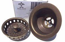 """$84 Belle Foret BFNKBS1TB 3-1/2"""" Kitchen SInk Basket Strainer Drain - T. Bronze"""