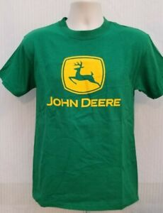NEW with TAGS John Deere Classic Green w/ Yellow Print T SHIRT - Size S  *B2