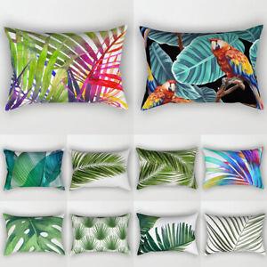 Tropical Palm Leaf Print Cushion Cover Throw Pillowcase Home Sofa Couch Decor
