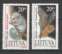 Lithuania 1994 Fauna Animals Bats - 2 MNH stamps