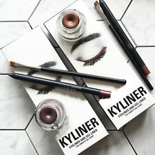 New Waterproof Natural Cosmetic Kyliner Eyeliner Gel Liner Pen Pencil Brush Set